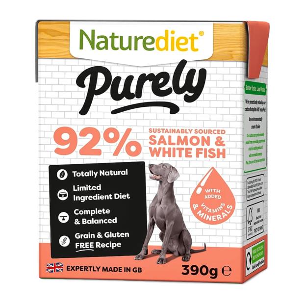 Naturediet Purely Salmon & White Fish Dog Food
