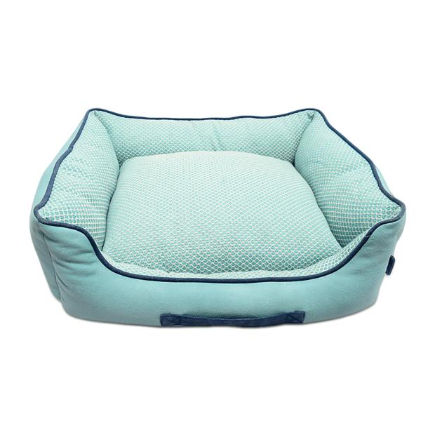 Resploot Teal Snakeskin Sofa Dog Bed