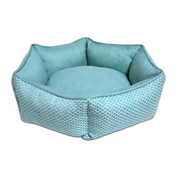 Resploot Teal Snakeskin Hexagonal Dog Bed